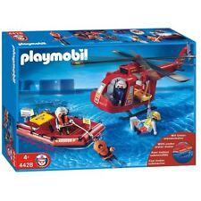 Playmobil 4428 Helicóptero con Bote de Rescate y Buzo.Con Motor submarino.Nuevo.