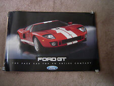 """2005-2006 FORD GT/GT40 NEW OLD STOCK TWO SIDED DEALER POSTER, 36"""" X 24""""!"""