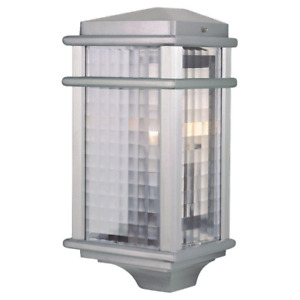 Feiss Outdoor Wall Lantern Sconce 15 in. 1-Light Brushed Aluminum