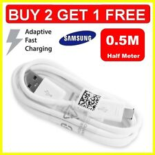 Fast Charger 0.5M USB Data Sync & Cable Lead for Samsung Galaxy S5 S6 S7 & Edge