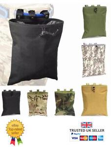Airsoft Molle Tactical Dump Pouch Black Multicam Waist  Magazine Pouch Belt Bag