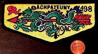 ACHPATEUNY LODGE 498 803 OA FAR EAST COUNCIL JAPAN PATCH DRAGON 1998 NOAC FLAP