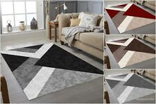 BEAUTIFUL MODERN RUGS TOP DESIGN ! CARPETS in Different Sizes ! GREY ! BLACK RED