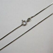 58 - 45 cm / 1,2 mm Venezia Collierkette aus Weißgold 585 - 2232/35