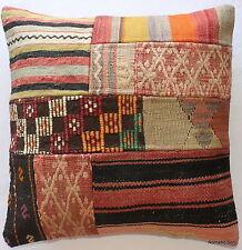 (50*50cm, 20inch) Authentic vintage handwoven kilim cushion cover patchwork 1