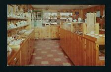 Beaver Bay Minnesota MN 1956 The Agate Shop Interior View CASES of Rocks on Sale