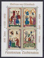 Liechtenstein Block 8 **, Wolfram vom Eschenbach,  postfrisch, MNH