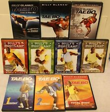 10 Tae Bo workout DVD lot Billy's Bootcamp cardio ultimate contact total body