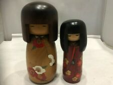 Kokeshi Amazing Kawaii cute Japanese Wooden 2dolls  by Uzaburo & Miyagawa