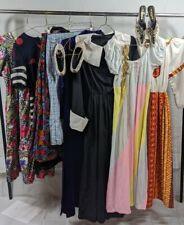 Vintage Wholesale resale Bundle Lot 80s 70s dresses, tops bottoms and accesories