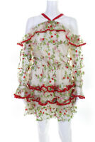 Alexis Womens Long Sleeve Ivory Floral Adeline Dress Size XL 11190936