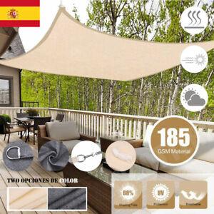 Patio Impermeable Toldo Vela 95% UV bloque Parasol Toldo para al aire libre