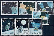 (W0990) CAMBODIA, 1988, SPACE, MI 946/52, SET, MNH/UM, SEE SCAN