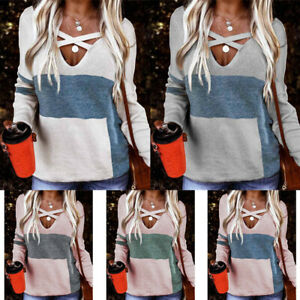 Plus Size Womens Long Sleeve Blouse T Shirt Tops Ladies Casual Jumper Pullovers