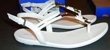 NIB White Silver Sandals Flats Faux Leather Apt 9 Shoes 7.5 MSRP $40