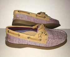 Sperry A/O 2 Eye Flecked Burgundy Size 5M Womens Leather & Canvas Boat Shoes NEW