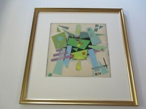 ANTIQUE ORIGINAL 1930'S PAINTING CONSTRUCTIVISM CUBIST CUBISM ABSTRACT MODERNISM