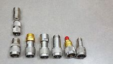 Lot of 8 Adapter Connectors SMA- Female to TNC- Female and other