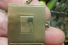 TIFFANY & CO 2 PICTURES LOCKET / PENDANT 14K GOLD RETRO VINTAGE.