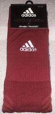 Adidas Menace Crew Socks 1 Pair Men 9.5-12 Women 10-12 Traxion Climalite NEW RED
