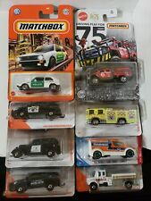 Lot of 8 Matchbox/Hot Wheels - Police Fire EMS Vehicles - VW Ford FREE SHIPPING