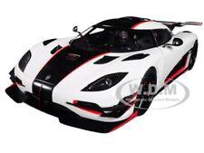 KOENIGSEGG ONE: 1 PEBBLE WHITE & CARBON BLACK 1/18 MODEL CAR BY AUTOART 79016