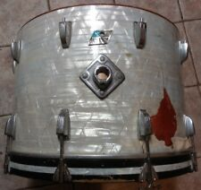 """1970 Ludwig 22"""" WHITE MARINE PEARL BASS DRUM parts"""