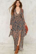 Nasty gal Salt Of The Earth Floral Maxi Dress Size S