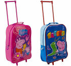 Peppa Pig or George Wheeled Travel Bag Hand Luggage Girls Boys Suitcase Trolley