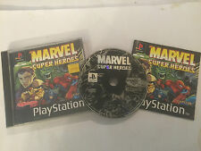 PAL PS1 PLAYSTATION 1 PSONE gioco Marvel Super Heroes completo da CAPCOM