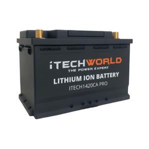 iTECH1420CA PRO Lithium Car Battery 12V Stop Start 1420amp 60Ah HIGH DISCHARGE