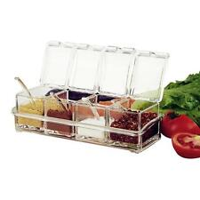 4in 1 Kitchen Acrylic Spice Container Jar Condiment Dispenser Salt Seasoning Box