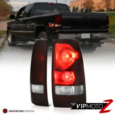 1999-2002 Chevy Silverado 'DARK SMOKE RED' Rear Brake Tail Lights Lamps Assembly