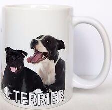 STAFFORDSHIRE BULL TERRIER Ceramic Gift Mug, Lovely images of Staffy Dogs.