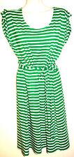 Talbots Woman Green & White Stripe Stretch Cotton Modal Dress Plus Size 1X NWT