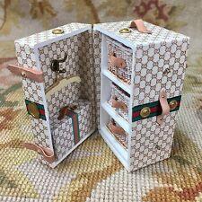 Pat Tyler Dollhouse Miniature Designer Steamer Trunk Bag Luggage Case p855