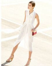 DVF Nieves pleated silk chiffon and medallion lace shirt dress NWT 0 $648.00