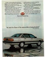 1986 AUDI 5000S Zermatt Silver 4-door Hardtop Vintage Ad