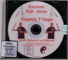 DVD escrima Kali Arnis espada y daga defensa propia con bastón y cuchillo