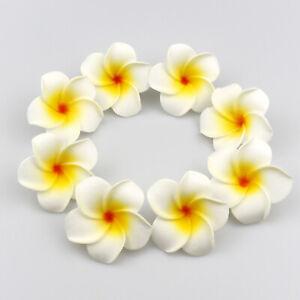 "2"" Hawaiian Frangipani Foam Plumeria Bulk Small Artificial Flower Heads-10/20Pcs"