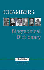 """AS NEW"" Chambers Biographical Dictionary, , Book"