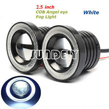 2x Universal 2.5 INCH 30W COB LED Angel Eyes Halo Projector DRL Lamp Fog Lights