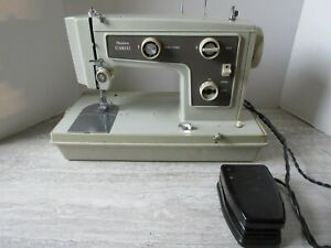 Old Vintage Sears Kenmore Sewing Machine with Foot Pedal & Case