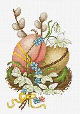 LUCA-S  B102  L'œuf de Pâques  Kit  Broderie  Point de croix  Compté