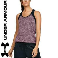 New Under Armour Colour Block UA Tech Womens Vest Tank Top gym sport training