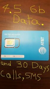 AT&T Mexico SIM Card 4.5  OF GB DATA & calls/sms.within USA, & MEX  x 30 DAYS
