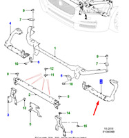 Jaguar XE X760 Front Left Radiator Support Panel T4N3262 NEW GENUINE