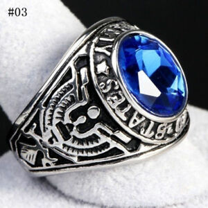 Size 7-13 Men Stainless Steel 316 Siam Red US United States Army Military Ring