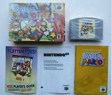 *Authentic* Paper Mario Nintendo 64 N64 Game Complete In Box CIB Super Rare #1