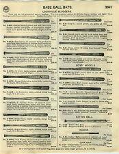 1929 PAPER AD Louisville Slugger Baseball Bat Fungo Willow Decal Ty Cobb Goslin